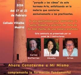 Curso Ahora Conocerme a Mí Mismo, Villalba, Madrid, 17 al 21 de Febrero de 2016