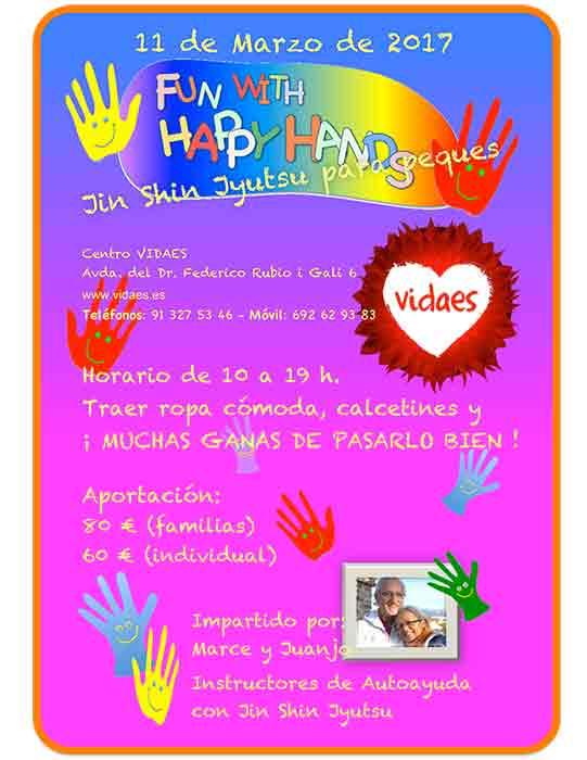 Curso Happy Hands en VIDAES un curso especial de Jin Shin Jyutsu para la infancia, padres y educadores infantiles