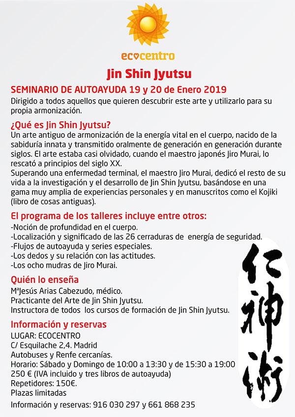 Seminario de Autoayuda con Jin Shin Jyutsu en ECOCENTRO