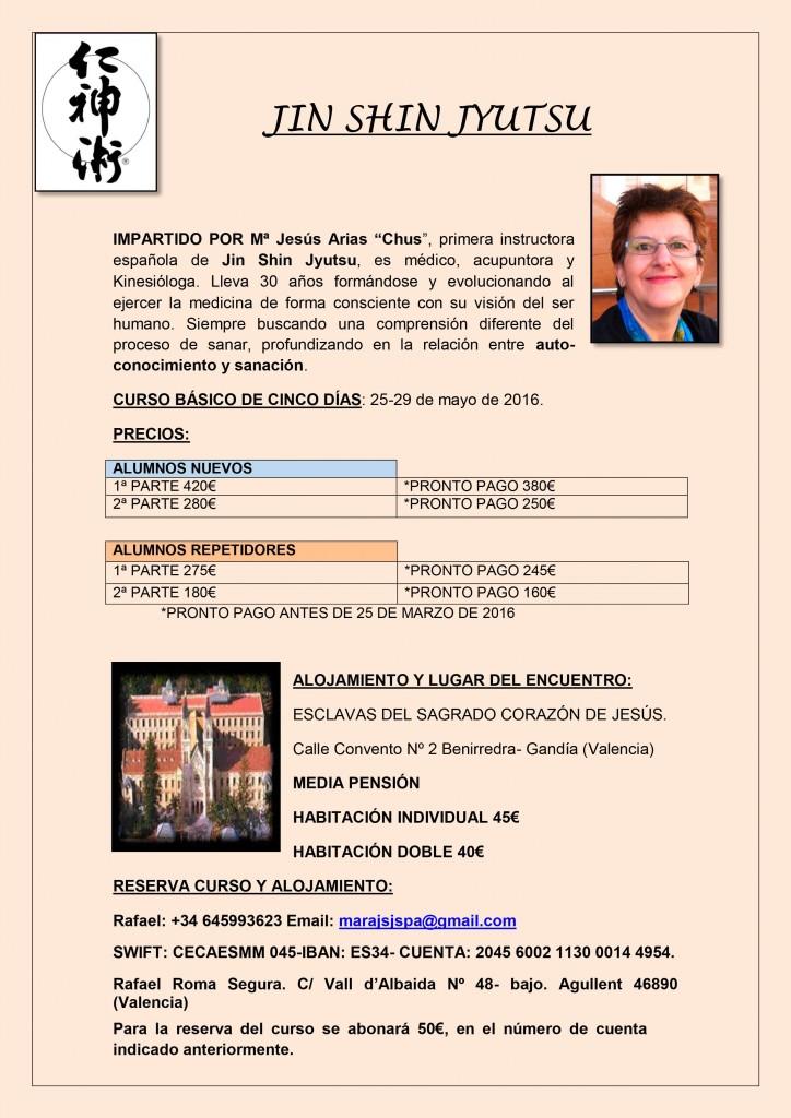 Seminario Básico de 5 Días Gandía 25 al 29 de Mayo Impartido por Chus Arias