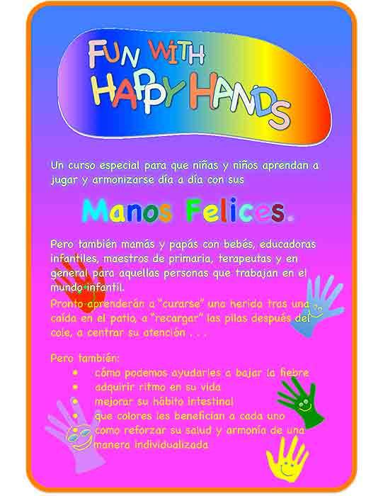 Curso Happy Hands un curso especial de Jin Shin Jyutsu para la infancia, padres y educadores infantiles