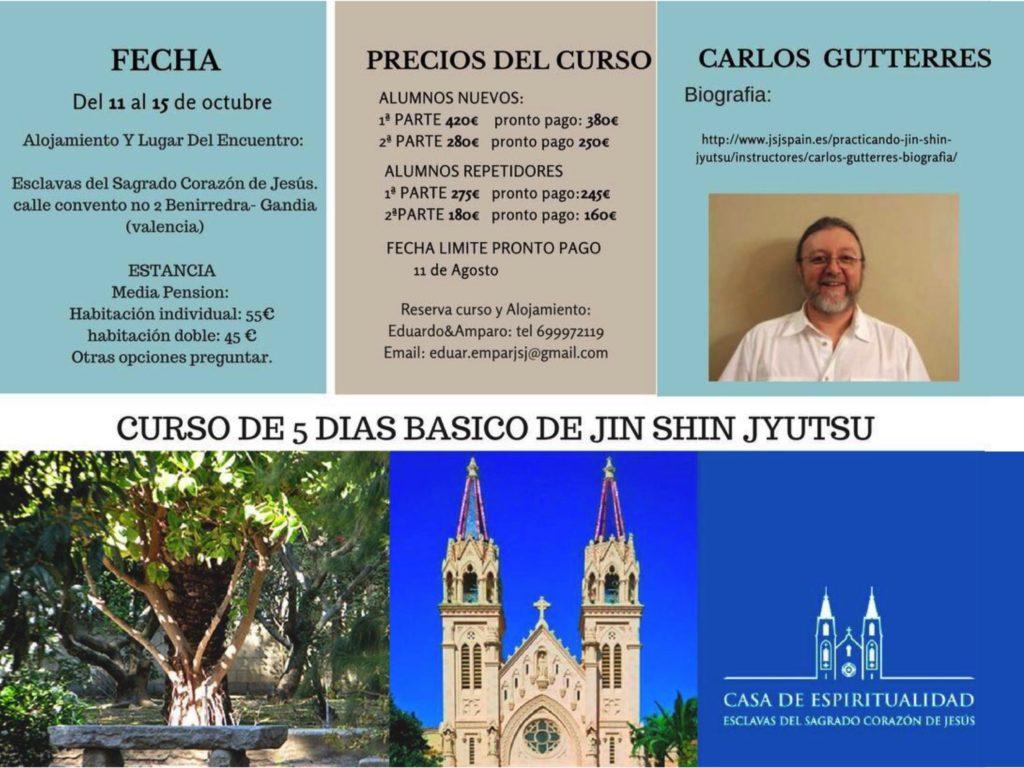 Seminario Básico de 5 Días, impartido por Carlos Gutterres Gandía, Valencia del 11 al 15 de Octubre