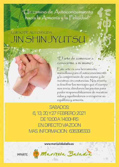 Curso Auto Ayuda con Jin Shin Jyutsu, impartido por Marisela Baladia