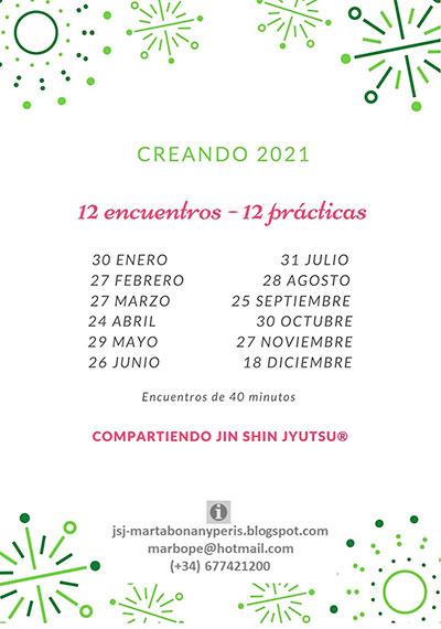 Creando 2021 12 meses-12 prácticas de Jin Shin Jyutsu con Marta Bonany