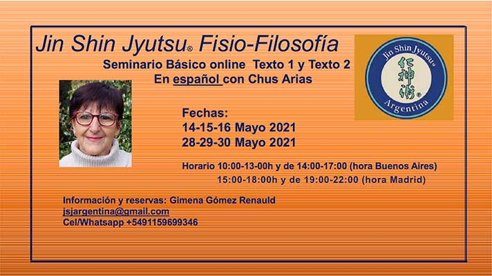 Seminario Básico Jin Shin Jyutsu On Line desde Buenos Aires